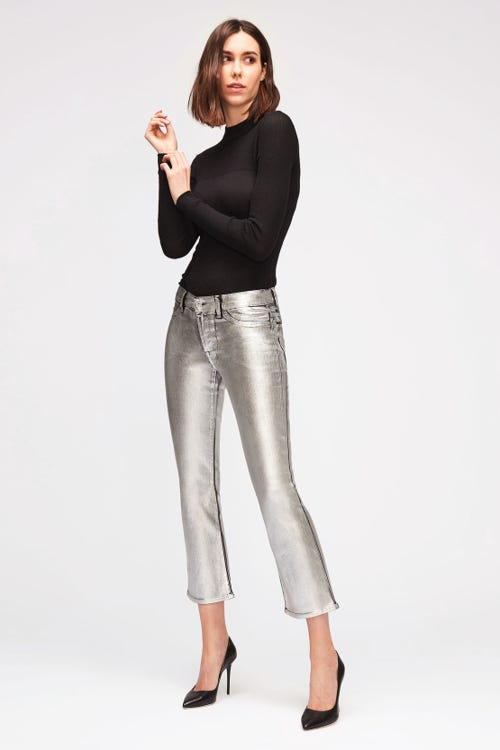 ANKLE BOOT COATED SLIM ILLUSION SILVER