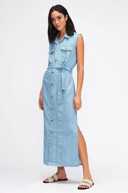 LORI DRESS ANGELINO WITH EMBROIDERED MESSAGE