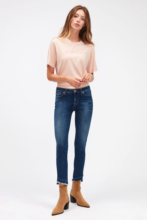 PYPER CROP SLIM ILLUSION NEVER ENDING WITH UNROLLED DIAGONAL HEM