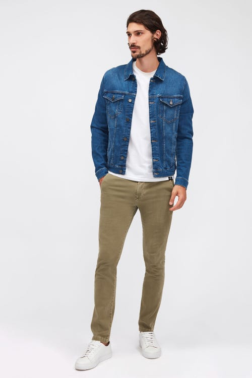 SLIMMY CHINO TAPERED LUXE PERFORMANCE SATEEN VINTAGE LIGHT ARMY