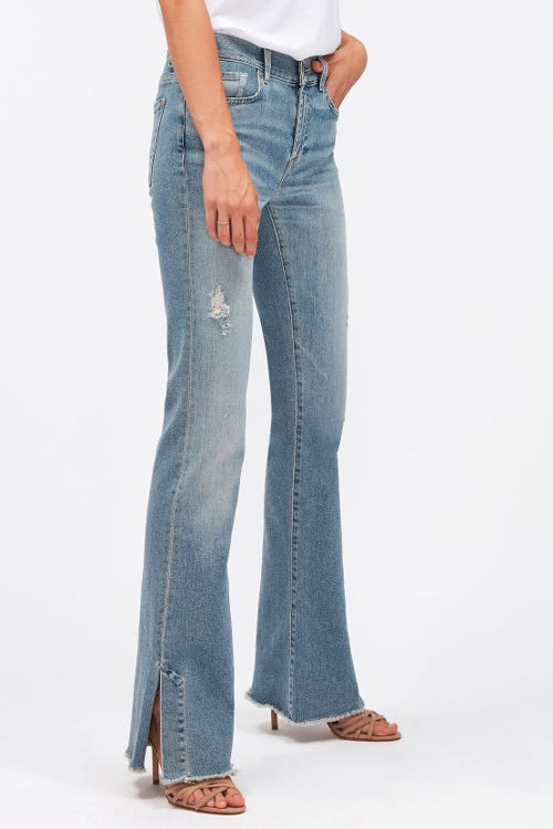 BOOTCUT LUXE VINTAGE SKYWALK WITH SPLIT FRAYED HEM