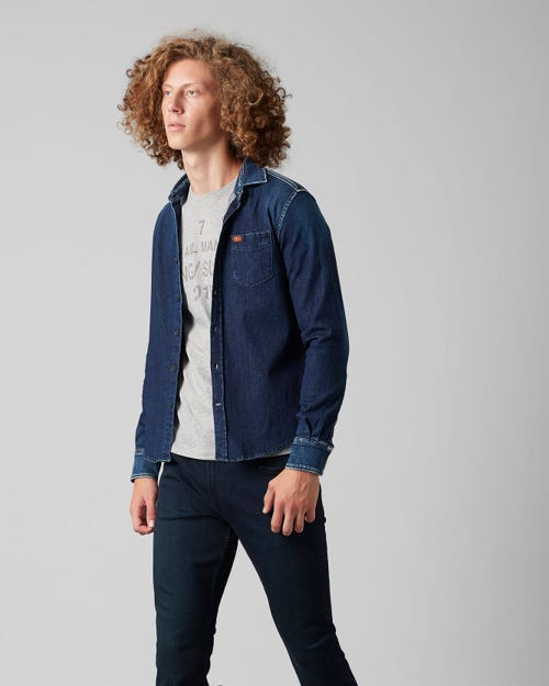 7 for all Mankind - CLEAN SHIRT BROADWAY DARK BLUE