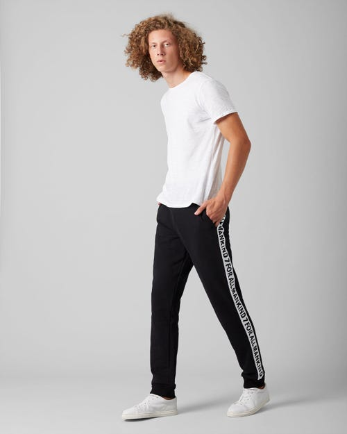 7 For All Mankind - Jogger Tape Cotton Logo Pure Black