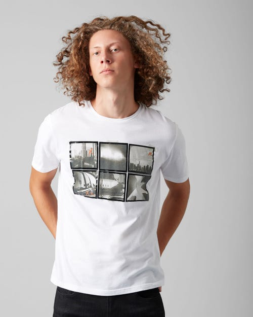 GRAPHIC TEE COTTON PHOTO SALT WHITE