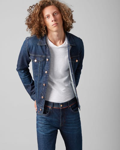 TRUCKER JACKET SELVEDGE VITALIZED DARK BLUE