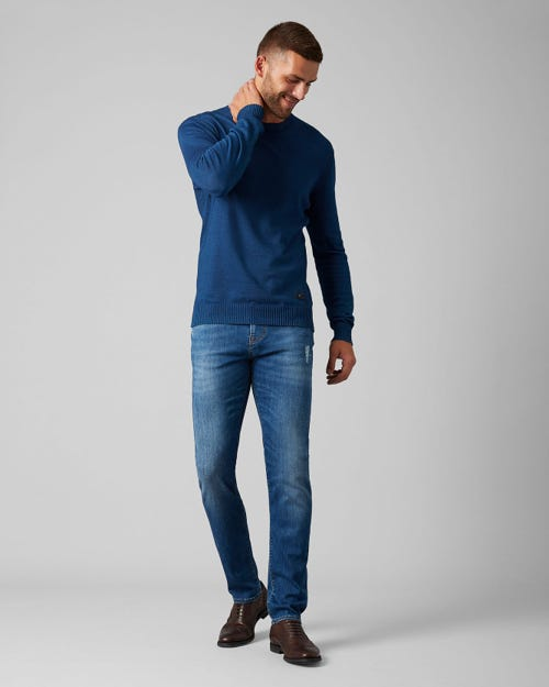 7 For All Mankind - Kayden Luxe Performance Profuse Mid Blue