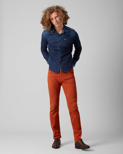 7 For All Mankind - Kayden American Colors Tiger Orange