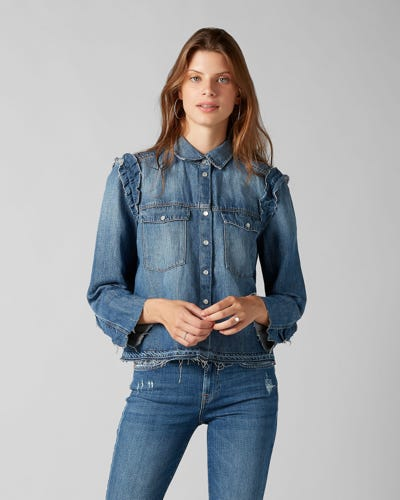 7 For All Mankind - Shirt Vintage Sycamore With Ruffles