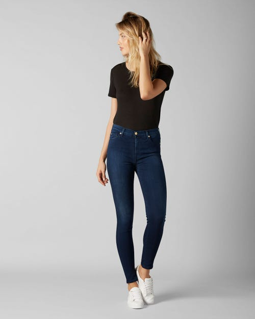HIGH WAIST SKINNY SLIM ILLUSION LUXE RICH INDIGO