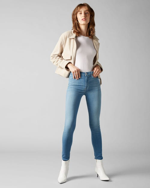 HIGH WAIST SKINNY SLIM ILLUSION LUXE FAIRFAX