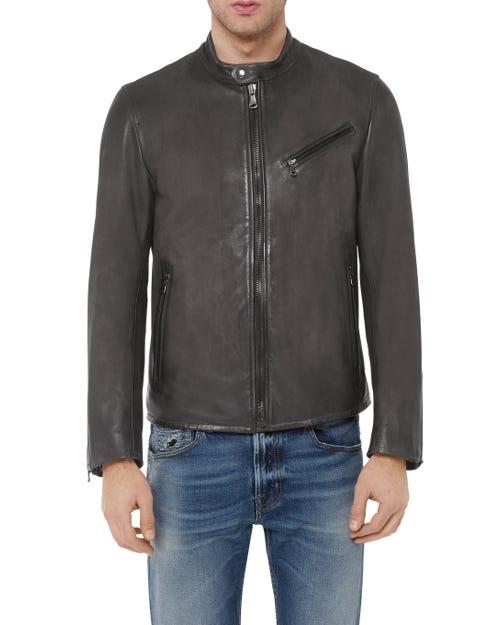 7 For All Mankind - Biker Jacket Leather Grey