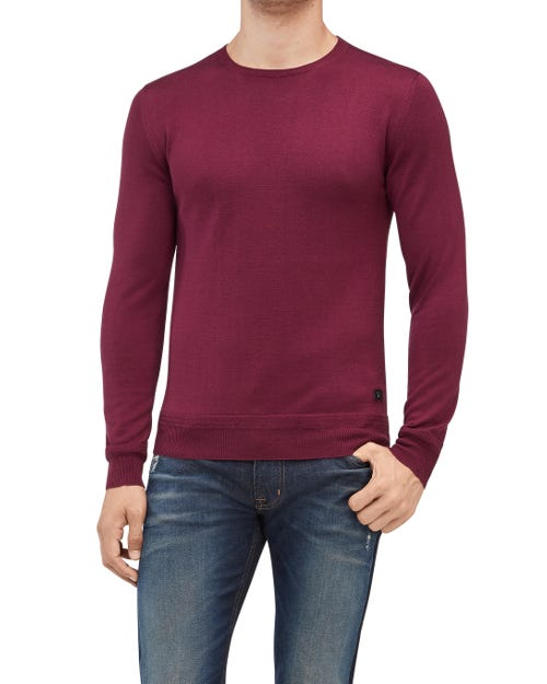 CREW NECK KNIT CASHMERE PURPLE