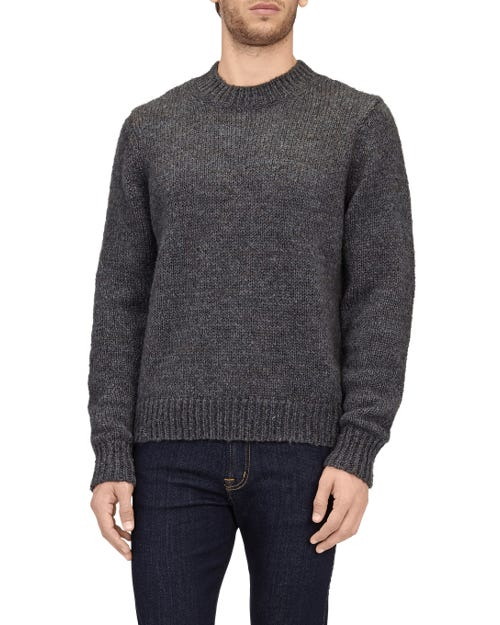 CREW NECK SWEAT MOHAIR CHARCOAL