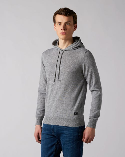 7 For All Mankind - Hoodie Cashmere Grey Melange