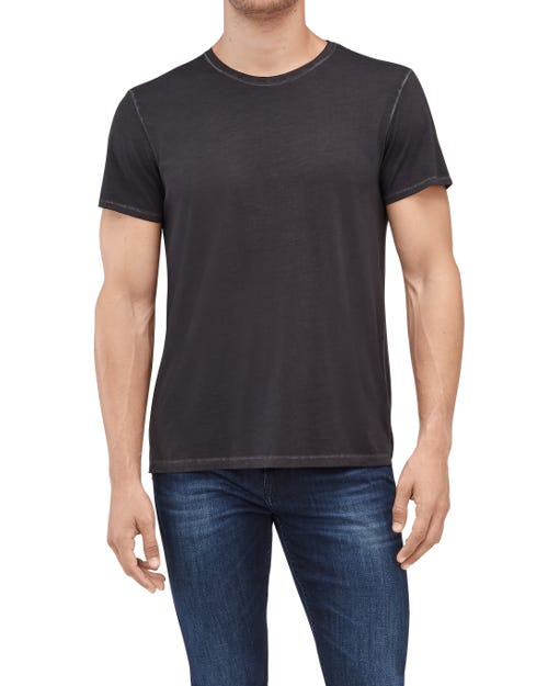 STONEWASHED PIMA TEE  BLACK