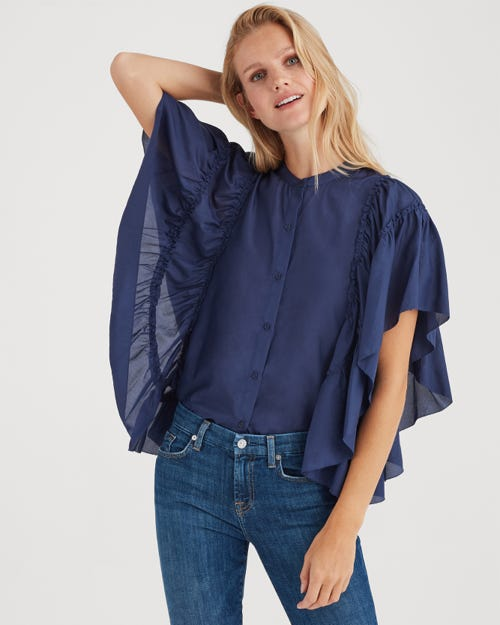 BUTTERFLY SLEEVE TOP MIDNIGHT SKY
