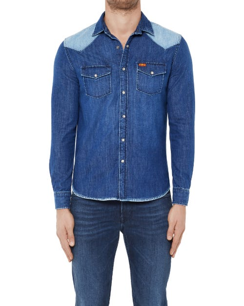WESTERN SHIRT POOLVILLE BLUE