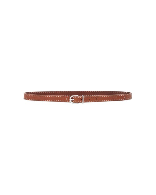 7 For All Mankind - Line Studded Belt Leather Cognac