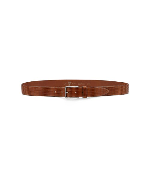 7 For All Mankind - Lasered Belt Cognac