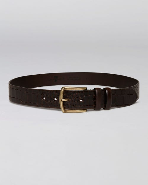 CROCODILE PRINT BELT LEATHER