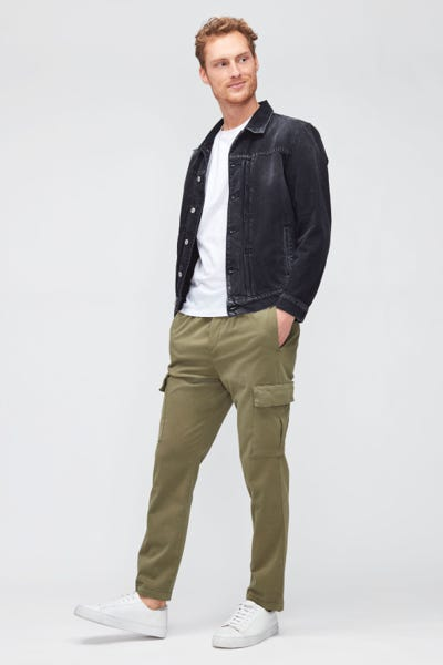 CARGO JOGGER LUXE PERFORMANCE SATEEN  OLIVE GREEN