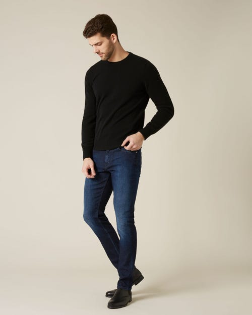 7 For All Mankind - Ronnie Cashmere Denim Dark Blue