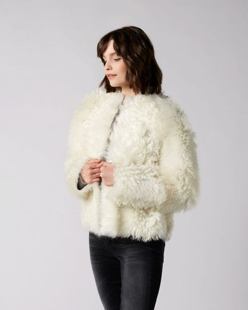 7 For All Mankind - Shearling Jacket Shearling Champagne