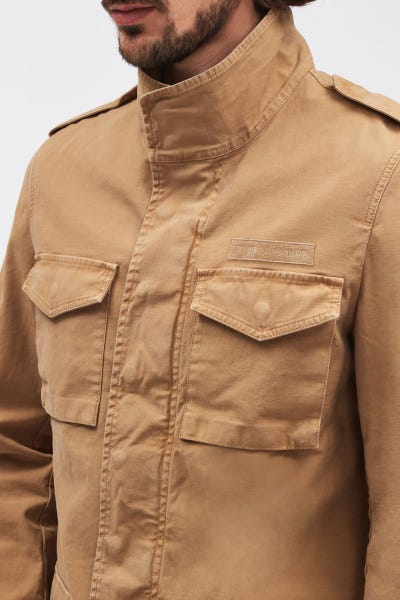 MILITARY JACKET SATEEN BEIGE