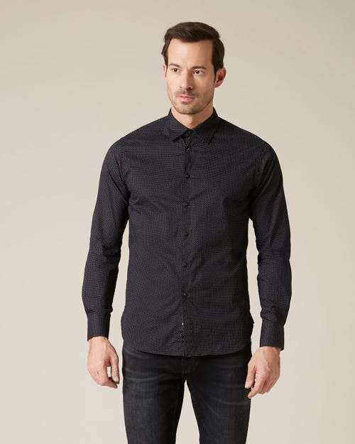 NEW SHIRT COTTON POIS BLACK