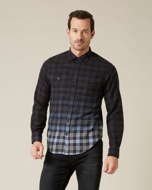 2 POCKET SHIRT OVERDYED CHECK CHECK