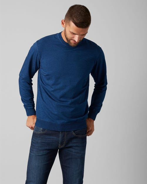 CREW NECK SWEAT COTTON DARK INDIGO