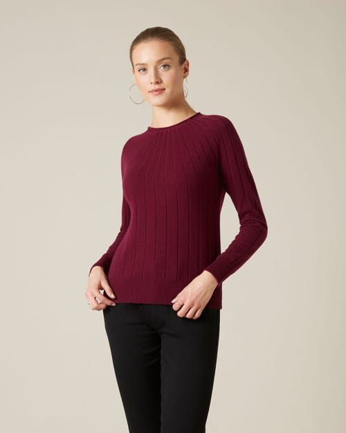 CRATER SWEATER CASHMERE GARNET