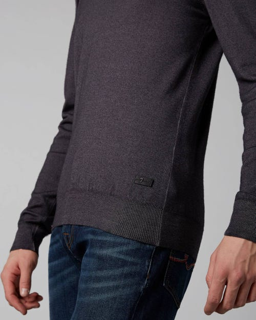 7 For All Mankind - Crew Neck Knit Wool Merino Grey