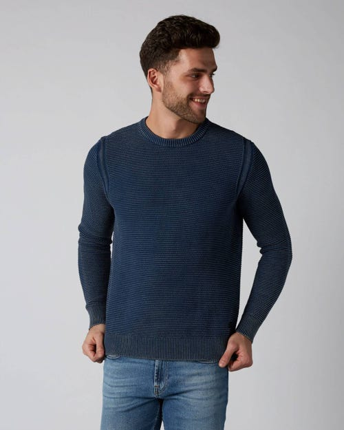 7 For All Mankind - Crew Neck Knit Cotton Indigo