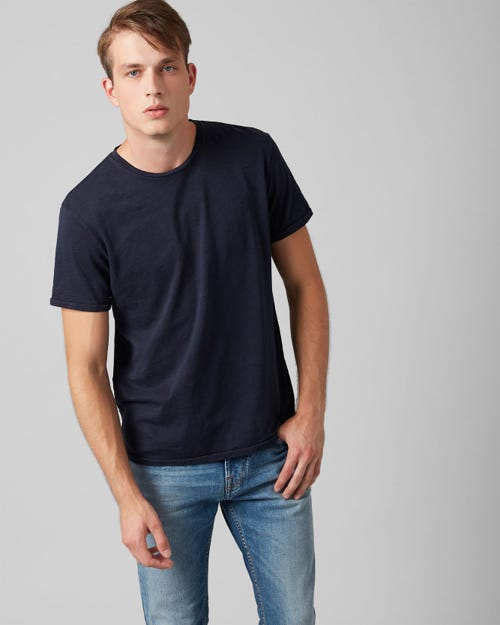 7 For All Mankind - T-Shirt Slub Midnight Blue