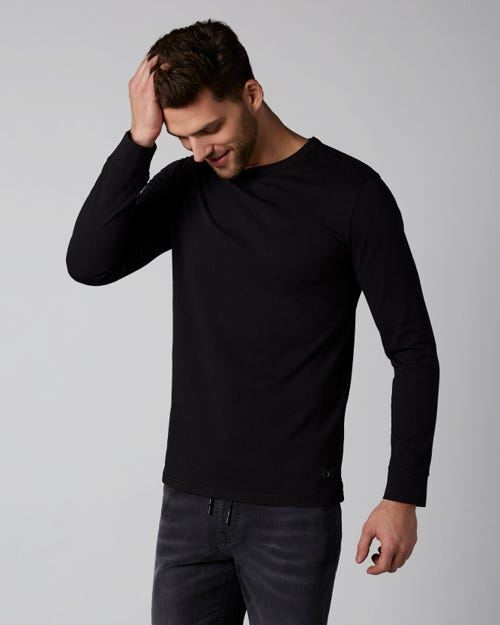 LONG SLEEVE TEE HEAVY JERSEY BLACK