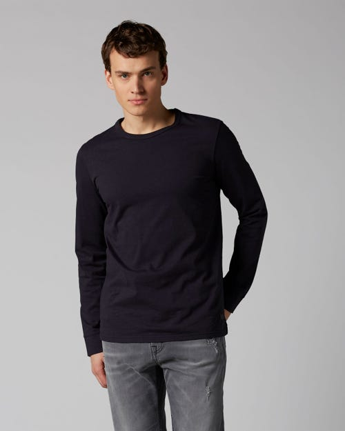 LONG SLEEVE TEE HEAVY JERSEY NAVY