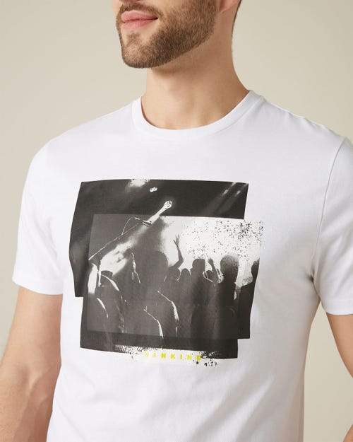 GRAPHIC TEE COTTON CONCERT PRINT WHITE