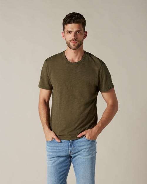 T-SHIRT SLUB ARMY
