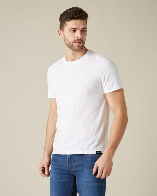T-SHIRT SLUB WHITE