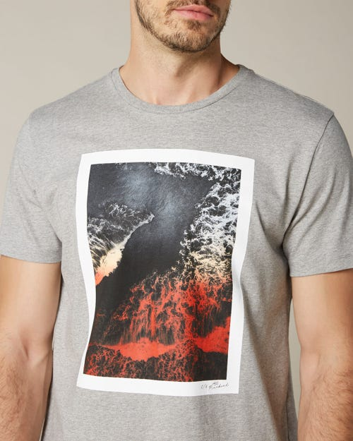 GRAPHIC TEE LIGHT JERSEY 7 WAVE GREY