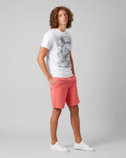 7 For All Mankind - Clean Short Ultra Light Weight Colors Flamingo