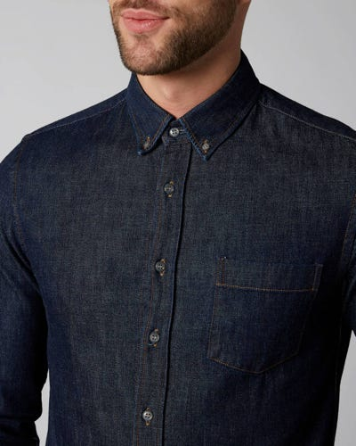 7 For All Mankind - Denim Shirt Nazare Rinse Blue