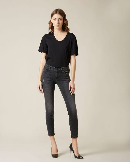 PYPER CROP SLIM ILLUSION EPIC WITH EMBELLISHED LABELS