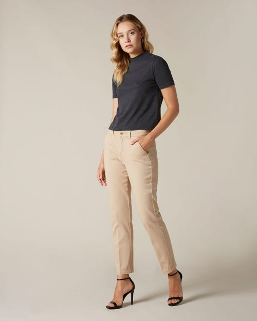 CHINO SATEEN SANDCASTLE WITH CROCO LABEL