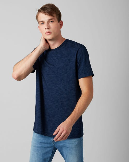 7 For All Mankind - T-Shirt Cotton Dark Indigo