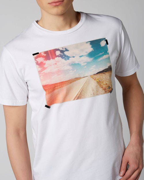 7 For All Mankind - Graphic Tee Cotton White With Printed Street