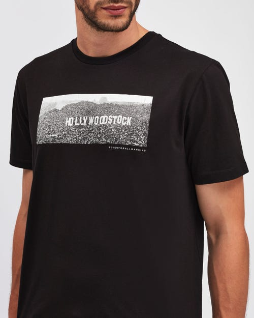 GRAPHIC TEE HOLLYWOODSTOCK BLACK