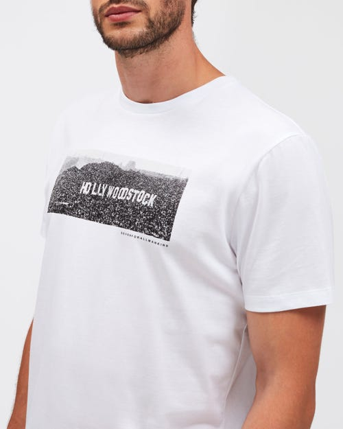 GRAPHIC TEE HOLLYWOODSTOCK WHITE