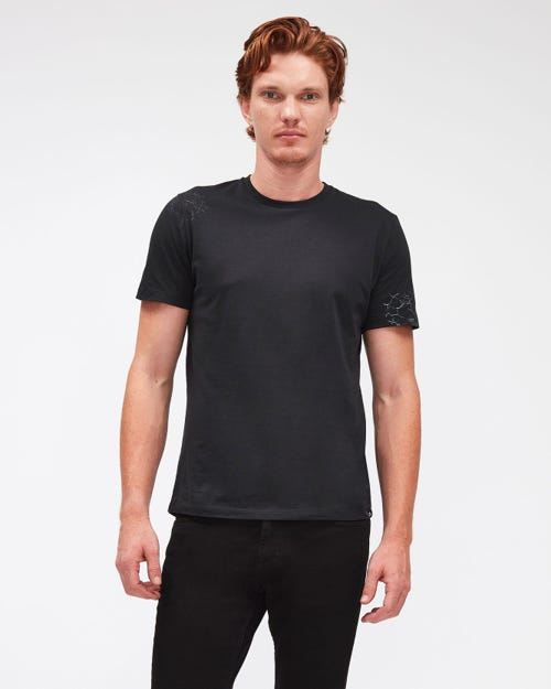 GRAPHIC TEE COTTON SPECIAL SPIDER PRINT BLACK